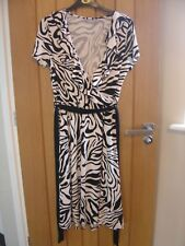 Wallis Black White Dress Size 12 (Ref P) Excellent Condition