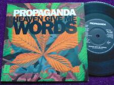 "PROPAGANDA "" Heaven Give Me Words""   7"" Vinyl    VIRGIN VS 1245"