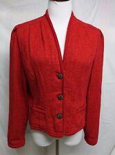 GEIGER Austria Red Cotton/Linen Jacket Vintage EXCELLENT 40 (US 10)