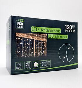 ECO LED Lichtervorhang Lichterkette Dekoration Lichtnetz warmweiß Weihnachtsdeko