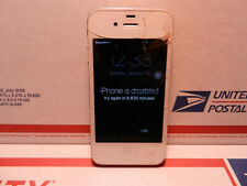 Apple iPhone 4s A1387 AT&T White Smartphone Broken Screen iLocked and Xword Lock