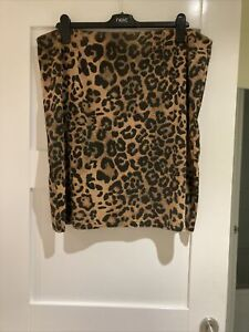 Ladies Yours Leopard Print Stretchy Skirt Size 20 New Without Tags **FREE P&P**