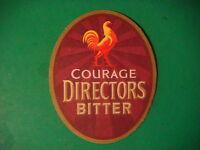 Beer Coaster Bar Mat ~ Wells Brewery Young's Courage Directors Bitter >< England