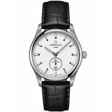 Certina Men's C0224281603100 DS-4 40mm Silver Dial Leather Watch
