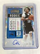 2020-21 Panini Contenders Cole Anthony /25 On Card Auto Cracked Ice RC Variation