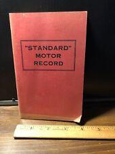 "1928 ""Standard Motor Record"" Vintage Booklet: STANDARD OIL COMPANY"