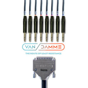 D-SUB Cable Serial DB25 Analog Tascam   8 Way NP3X Neutrik Black Van Damme
