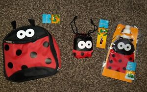 Ladybird Bundle School Lunch Bag Gym Bag And Drinks Water Pouch New