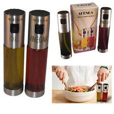 Oilve aceite y vinagre pulverizador Mist Spray de botellas de vidrio Dispensador de aderezo de ensalada
