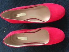 Primark ladies red court shoes size 3