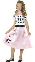 Girls Kids Teen 50s Poodle Retro Polka Fancy Dress Costume Book Day Week 4-14