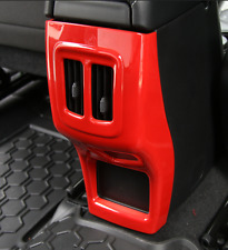 For Jeep Compass 2017 Red ABS Car Rear armrest box frame Cover Trim