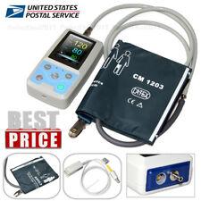 24Hours Ambulatory Blood Pressure NIBP Spo2 Pr Patient Vital Signs Monitor USA