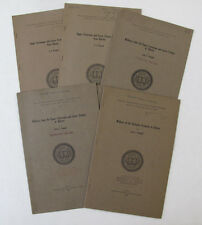 Lot of 5 Geology Cretaceous Gastropoda Paleontology Fossils L S Russell Ottawa