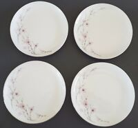 "Norcrest Japan Spring Blossom Dessert Plates Set of Four (4) 6 1/4"" Fine China"