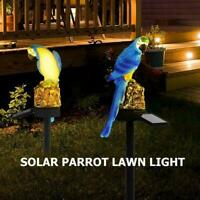 Solar Powered Garden LED Lights Animal Parrot Lawn Waterproof Ornament Lamp S9E7