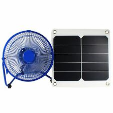 8'' Blue USB Iron Fan 10W Sunpower Solar Ventilator For Greenhouse Chicken House