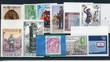 BELGIUM 1961//1984 LOT OF 11 DIFFERENT IMPERFORATE STAMPS MINT NO GUM AS ISSUED