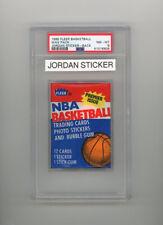 1986 Fleer Wax Pack Michael Jordan RC sticker on back PSA 8 - RARE!