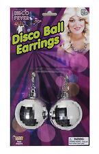 70's Disco Ball Jumbo Earrings for Ladies Costume Jewelry Disco Fever Accessory