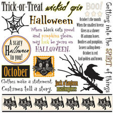 Dream Street Papers Superstition Collection Halloween 16 RUB ONS Trick or Treat