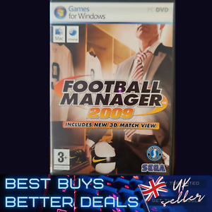 Football Manager 2009 PC Game Windows Complete with Manuals TESTED