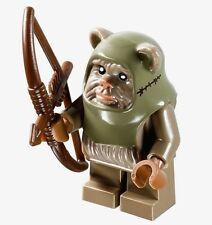 LEGO Star Wars EWOK WARRIOR Minifigure With Weapon NEW 10236 Ewok Village Bow