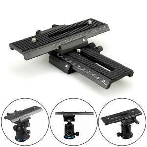 2 Way Macro Sliding Focus Focusing Rail Slider For DSLR Camera Tripod Bracket