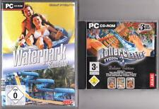 ROLLER Coaster Tycoon 3 Deluxe addon soaked + WILD + Waterpark SIMULATOR PC