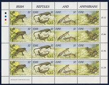 IRELAND 1995 Reptiles and Amphibians Sheet (982a) - Mint Never Hinged
