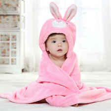 Pink Bunny Rabbit Plush Baby Toddler Swaddle Blanket with Animal Hood SALE!