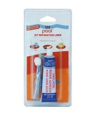 KIT REPARATION PISCINE LINER GEB POOL colle + 2 pièce LINER TRANSPARENT 10X20 CM