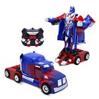 Kids RC Toy Truck Transforming Robot Remote Control Car Toys for Boys 8-12 Blue