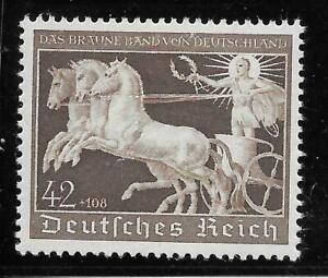 #0747# Deutsches Reich 1940, Galopprennen Das Braune Band, Nr. 747 postfrisch **