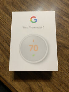 AS IS Nest Thermostat E T4000ES Programmable A0063 White/ Grey no wifi