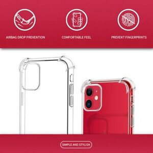 CLEAR SHOCKPROOF Case For iPhone X XS MAX 11 PRO MAX Protector Silicone Cover