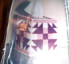 HTF Joan Green Designs ROSE QUILT Tissue Box Cover Plastic Canvas Kit