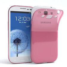 Ultra Slim Cover für Galaxy S3 / Neo Case Silikon Hülle Transparent Rosa