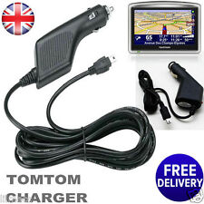 CAR CHARGER  FOR TOM TOM 1 ONE V2 V3 V4 SAT NAV GPS UK 12V 24V POWER LEAD