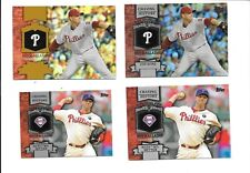 ROY HALLADAY 2013 TOPPS CHASING HISTORY (4) CARD LOT FOILS, GOLD, MINI SEE LIST