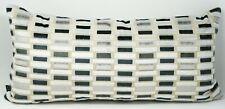 "Hallmart Collectibles Block Geometric Velvet 13"" x 26"" Decorative Pillow - Gray"