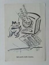 Cartolina propaganda anti Inglese Radio Londra RSI Repubblica sociale militare