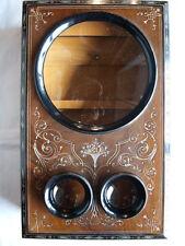 Chi guarda stereo: grande tavolo osservatore in legno, pantoscope, ben A. Mattey