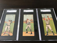 1911 T201 Mecca Lot Lake Wallace Chase Sweeney Huggins Bresnahan SGC Graded HOF