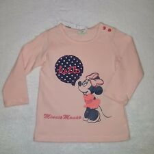 DISNEY BABY t-shirt rose MINNIE manches longues taille 12 mois neuf