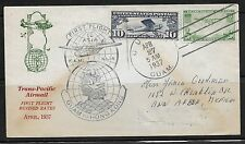 GUAM HONG KONG US 1937 TRANS PACIFIC FIRST FLIGHT WITH REVISED RATES TO 30c GUAM