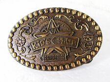 Rodeo Bustin Infantil Club Latón Hebilla de Cinturón de Montana Plateros 11616