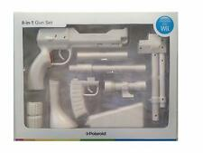 Brand New Polaroid Zapper 8-in-1 Gun Set (White) for Nintendo Wii Accessory Pack
