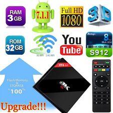 Android 7.1 TV Box H96 PRO+ 3GB/32GB Amlogic S912 Octa core BT 4.1 HDMI 4K 3D