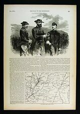 Harper's Civil War Map Mississippi Vicksburg Canal Jackson Grand Gulf McPherson